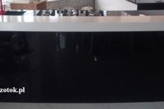 24 Blaty kamienne bialo - czarne w polokrag, kuchni - wyspa, Pszczyna