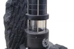 10 Lampa górnicza z granitu czarnego