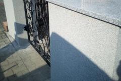 38 Słupki granitowe wykonane wraz ze schodami , Pszczyna