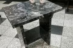 07 stol z kamienny z granitu - kawowy, Pszczyna