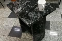 08 stol z kamienny z granitu - kawowy, Pszczyna