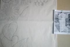 01 Szkic projektu plaskorzezby na papierze - etap 1 i 2