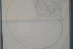 148 Szkic rzezbiarza na papierze- etap 2