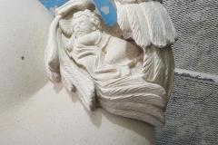 151 Gotowa rzezba - aniolek z profilu bocznego - etap 5