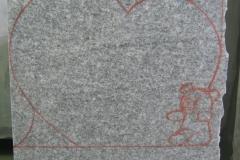 155 Szkic rzezby w bloku kamiennym granitu - etap 3