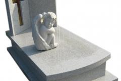 090 Pomnik dzieciecy z rzezba i witrazem