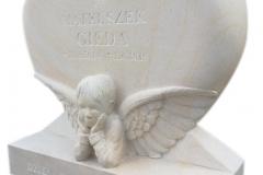 130 Rzezba dla dziecka z piaskowca pod nagrobek, Raciborz, rzezbiarz Janusz Moroń