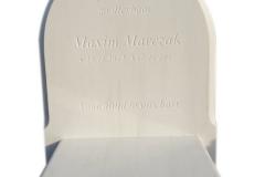 164 Pomnik dla dziecka z bialego greckiego marmuru Thassos wraz z ozdobymi frezami, Holandia