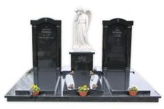 10 Grobowiec rodzinny z czarnego granitu z rzezba