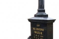 20 Pomnik - grobowiec czarny z granitu z krzyzem, Pszczyna