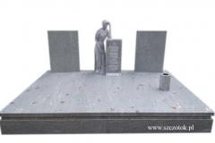 40 Grobowiec - nagrobek z jasnego granitu z rzezba kobiety, Gubin