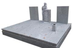 42 Grobowiec - nagrobek z jasnego granitu z rzezba kobiety, Gubin