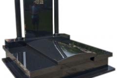 46 Pomnik - grobwiec z czarnego granitu, Jaworzno