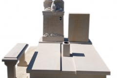 75 Pomnik z piaskowca wraz z rzezba aniola na piwnicy grobowcowej, Solec kujawsko-pomorski