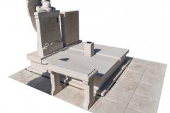 77 Pomnik z piaskowca wraz z rzezba aniola na piwnicy grobowcowej, Solec kujawsko-pomorski
