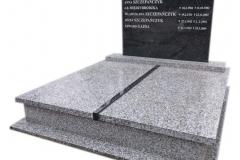 80 Pomnik podwojny granitowy na piwnicy grobowcowej, Pszczyna
