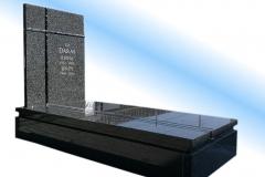 009 nagrobek nowoczesny granitowy ze szklem, Piotrkow Trybunalski