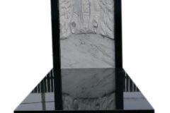 085 Pomnik nowoczesny z granitu z rzezba z marmuru, Bierun