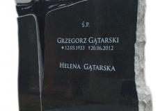 083 Tablica nagrobna ze szklanym krzyzem - pomnik nowoczesny, Szczecin