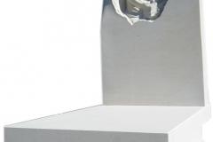 097 Nagrobek nowoczesny z piaskowca wraz z plaskorzezba chlopczyka,Lipowa