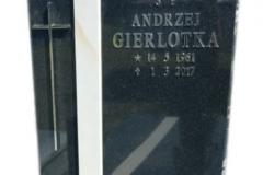 107 Tablica nagrobna z granitu z polaczeniem piaskowca, Katowice