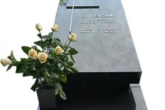 109 Nagrobek nowoczesny z czarnego granitu, Katowice