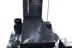 117 Pomnik nowoczesny czarny z granitu z lampionem, Wrocław