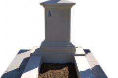 150 Pomnik z piaskowca z krzyzem - nagrobki nowoczesne, Bielsko Biala