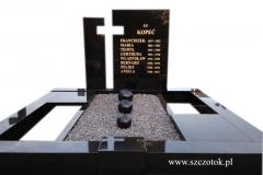 157 Pomnik nowoczesny z czarnego granitu z kulami ozdobnymi, Goczalkowice