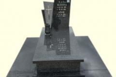 161 Pomnik nowoczesny z ciemnego granitu, Gora k.Pszczyna