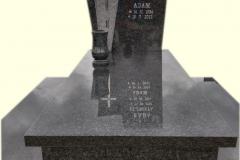 162 Pomnik nowoczesny z ciemnego granitu, Gora k. Pszczyna