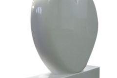180 Tablica nagrobna w ksztalcie serca z bialego marmuru Thassos - nagrobki nowoczesne