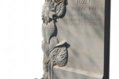 190 Nagrobek nowoczesny z plaskorzezba z piaskowca, Katowice