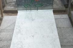 201 Nagrobek nowoczesny z marmuru ze szklanym fusingiem, witrazem - Rybnik