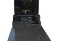 205 Pomnik nowoczesny z czarnego granitu wraz z rzezba z bialego marmuru, Wojkowice