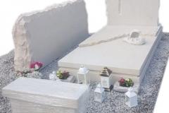 277 Pomnik nowoczesny z piaskowca wraz z rzezba aniolka, ławeczka, obeliskiem, Karkow