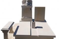 315 Pomnik nowoczesny z piaskowca wraz z rzezba aniola, Solec kujawsko-pomorski