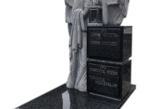 363 Nagrobek nowoczesy urnowy z garnitu wraz z rzezba pelnoplastyzna aniola, Bochnia k. Krakowa