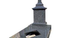 379 Pomnik nowoczesny z ciemnego granitu w formie kapliczki