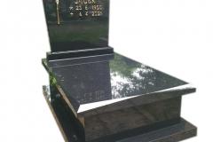 436 Nagrobek nowoczesny urnowy z czarnego granitu Szwed, Pszczyna