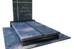 438 Pomnik nowoczesny podwojny granitowy ze szklanym krzyzem, Pszczyna