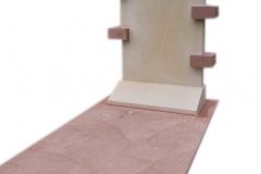 454 Pomnik nowoczesny z jasnego oraz czerwonego piaskowca , Gliwice