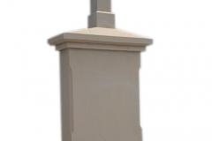 466 Nagrobek nowoczesny z piaskowca w formie kapliczki, Wadowice