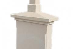 468 Nagrobek nowoczesny z piaskowca w formie kapliczki, Wadowice