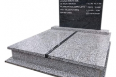 52 Pomnik podwojny granitowy na piwnicy grobowcowej, Pszczyna