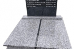 53 Pomnik podwojny granitowy na piwnicy grobowcowej, Pszczyna