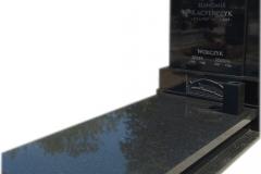 088 Pomnik z czarnego granitu wraz z rzezba z bialego marmuru, Wojkowice