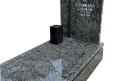 164 Pomnik pojedynczy granitowy z krzyzem w tablicy, Gliwice