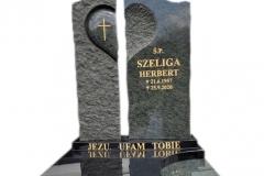 184 Tablica granitowa rzezbiona na nagrobek pojedynczy, Janowice woj.slaskie