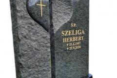 185 Tablica granitowa rzezbiona na nagrobek pojedynczy, Janowice woj.slaskie